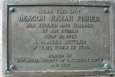 Deacon Josiah Fisher Marker image. Click for full size.