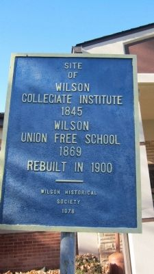 Wilson Collegiate Institute 1845 Marker image. Click for full size.