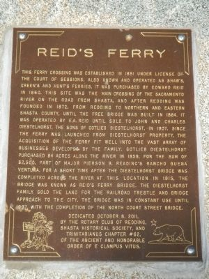 Reid's Ferry Marker image. Click for full size.