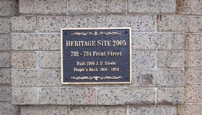 732 - 734 Front Street Marker image. Click for full size.