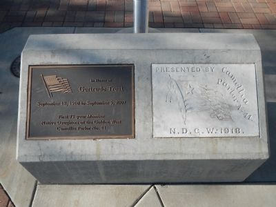 Anderson Fire Station Flagpole Base image. Click for full size.