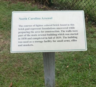 North Carolina Arsenal Marker image. Click for full size.