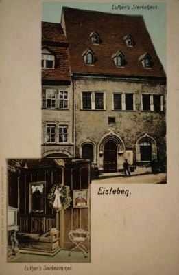 Martin Luther Death House Historical Postcard image. Click for full size.