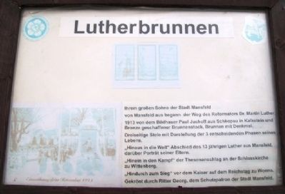 Lutherbrunnen Marker image. Click for full size.