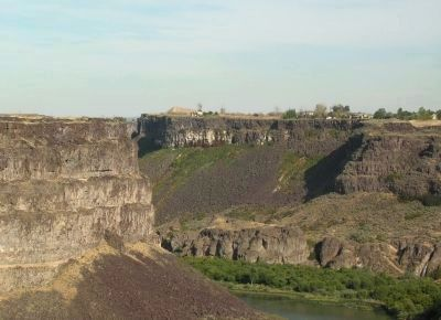 Dirt Ramp Used in Snake River Canyon Jump image. Click for full size.