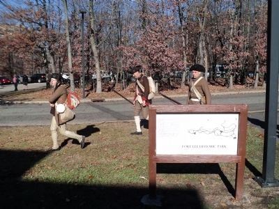 Revolutionary War Soldiers at the Marker image. Click for full size.
