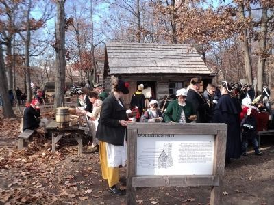 Reenactors at the Soldier Hut Marker image. Click for full size.