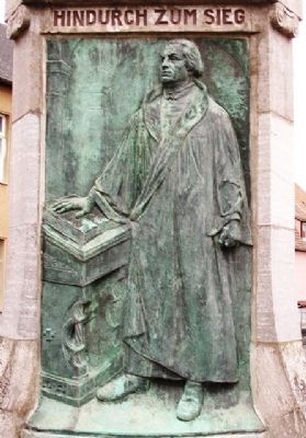 Luther Fountain / Lutherbrunnen Relief image. Click for full size.