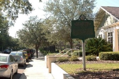 Kate Jackson Recreation Center Marker along South Rome Avenue image. Click for full size.