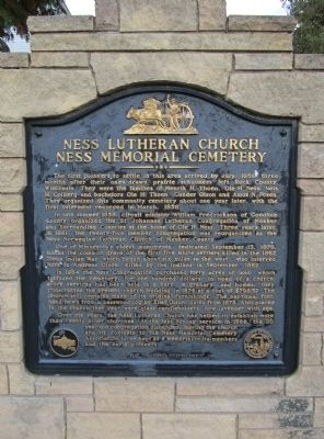 Ness Lutheran Church Marker image. Click for full size.