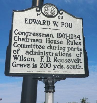 Edward W. Pou Marker image. Click for full size.