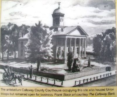Illustration on Callaway County Men at War Marker image. Click for full size.