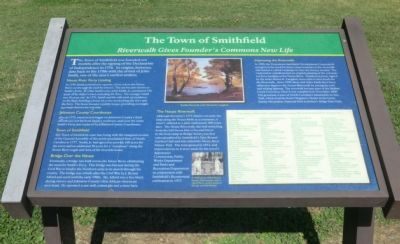 The Town of Smithfield Marker image. Click for full size.