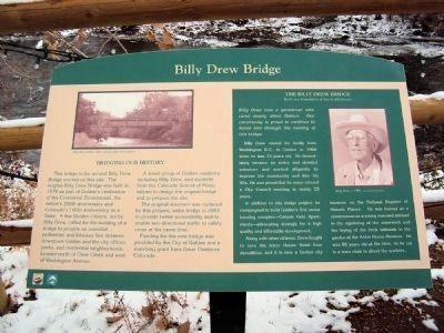 Billy Drew Bridge Marker image. Click for full size.