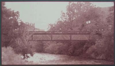 Billy Drew Bridge, 1985. Courtesy Golden Pioneer Museum image. Click for full size.