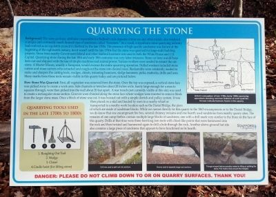 Quarrying the Stone Marker image. Click for full size.