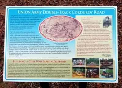 Union Army Double-Track Corduroy Road Marker image. Click for full size.