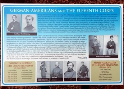 German-Americans and the Eleventh Corps Marker image. Click for full size.