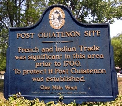 Post Ouiatenon Site Marker image. Click for full size.