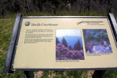 Devil's Courthouse Marker image. Click for full size.