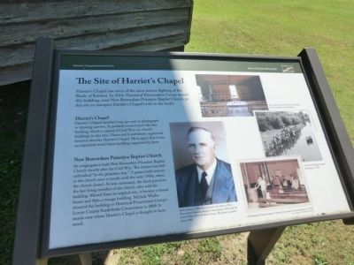 Site of Harriet's Chapel Marker image. Click for full size.