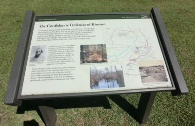 The Confederate Defenses of Kinston Marker image. Click for full size.
