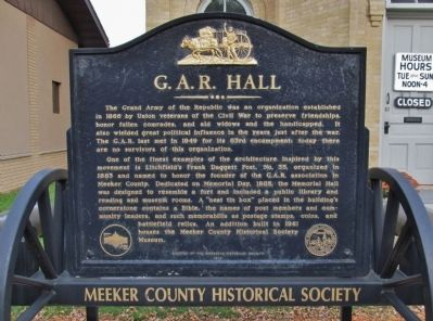G.A.R. Hall Marker image. Click for full size.