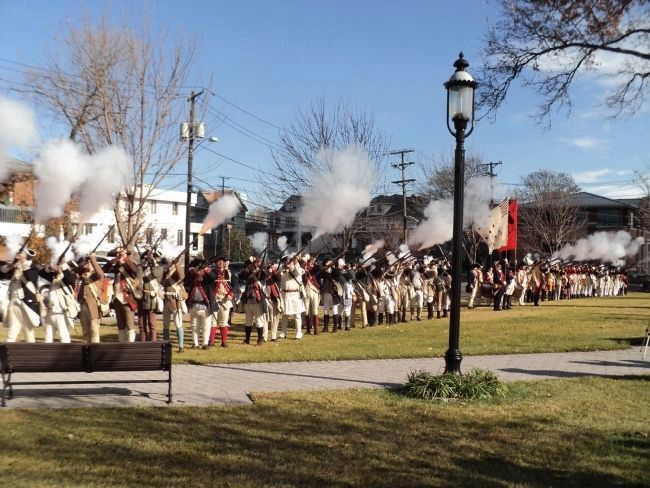Revolutionary War Troops in Monument Park image. Click for full size.