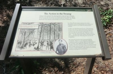 The Action in the Swamp Marker image. Click for full size.