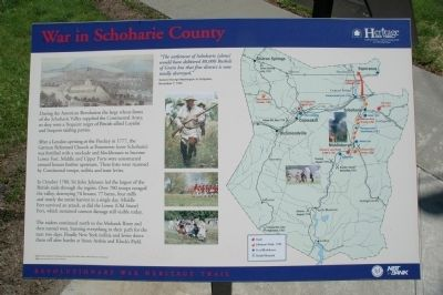 War in Schoharie Marker image. Click for full size.