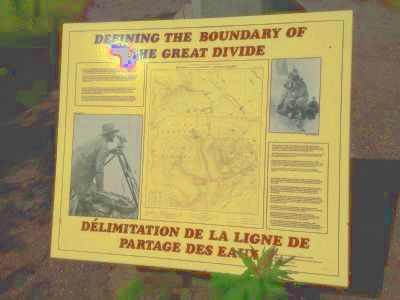 Defining the Boundry of the Great Divide Marker image. Click for full size.