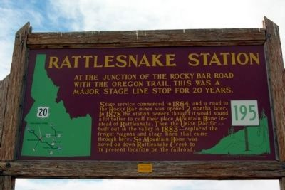 Rattlesnake Station Marker image. Click for full size.