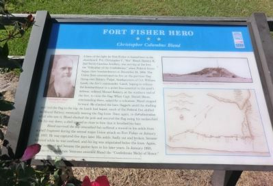 Fort Fisher Hero Marker image. Click for full size.