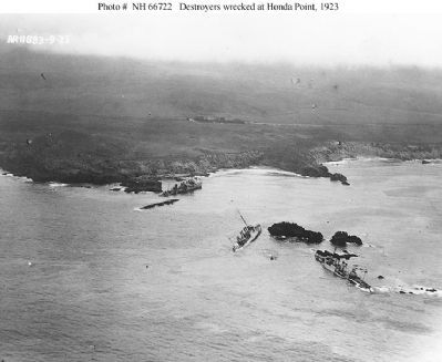 Destroyers Wrecked at Honda Point image. Click for full size.