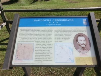 Haddocks Crossroads Marker image. Click for full size.