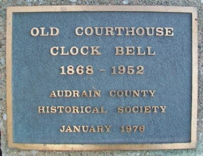 Old Courthouse Clock Bell Marker image. Click for full size.