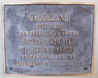 Graceland NRHP Marker image. Click for full size.