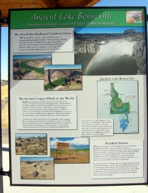 Ancient Lake Bonneville Marker image. Click for full size.