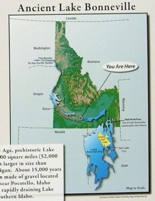Ancient Lake Bonneville image, Touch for more information