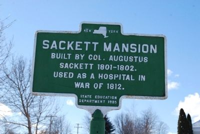 Sackett Mansion Marker image. Click for full size.