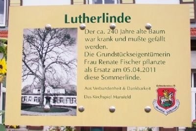 Lutherlinde / Luther Linden Marker image. Click for full size.