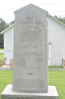 Erected in Memory of New Bethel Baptist Church Marker image. Click for full size.