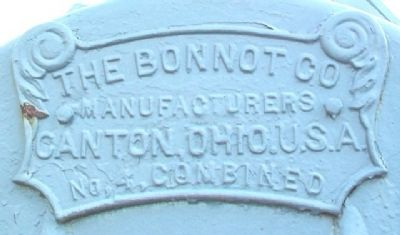 Bonnot Combined Brick Machine Builder's Plate image. Click for full size.