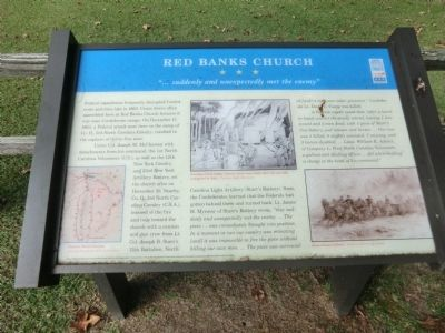 Red Banks Church Marker image. Click for full size.