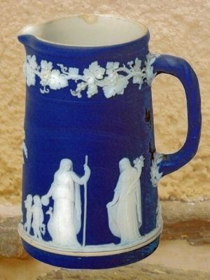 Jasperware Pitcher image. Click for full size.