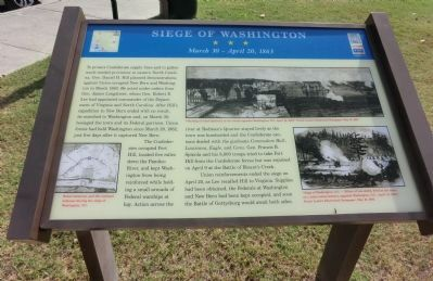 Siege of Washington Marker image. Click for full size.