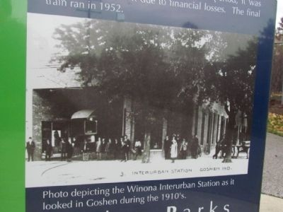 Winona Interurban Station in 1910's image. Click for full size.