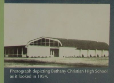 Bethany Christian High School in 1954 image. Click for full size.