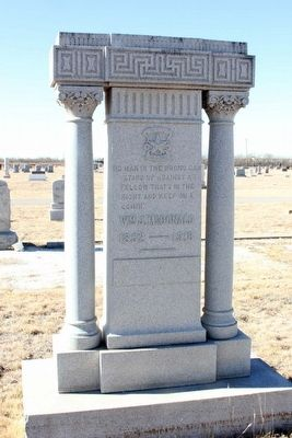 William Jesse McDonald grave monument image. Click for full size.