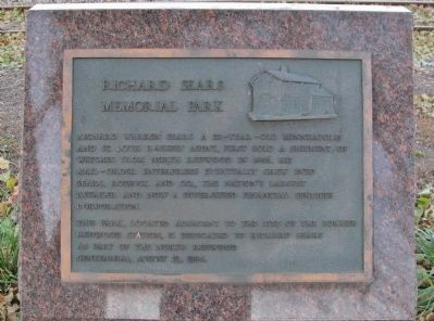 Richard Sears Memorial Park Marker image. Click for full size.